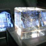 3D glass plastic reconstruction of motoneurons, created by Kelvin Jones